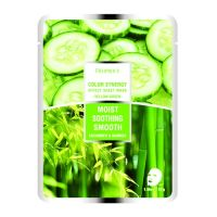 Deoproce Color Synergy Effect Sheet Mask Yellow-Green Sheet – маска на основе бамбука и огурца